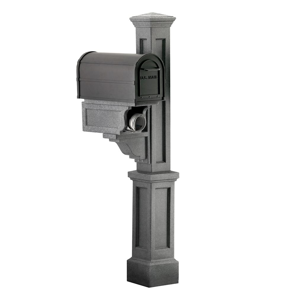 Rockport Single Mailbox Post in Granite