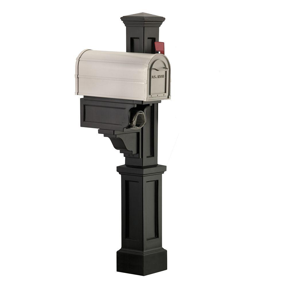 Rockport Single Mailbox Post in Black