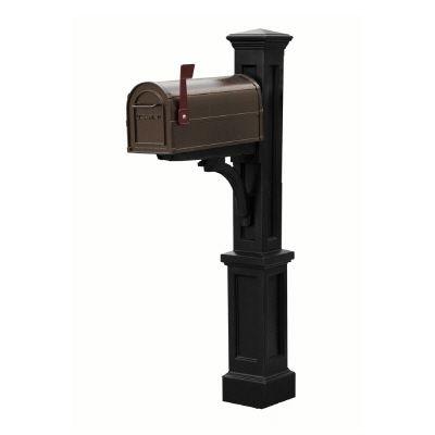 Newport Black Mailbox Post