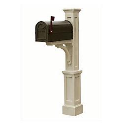 Mayne Poteau de boîte aux lettres Newport Plus (argile) style Nouvelle-Angleterre
