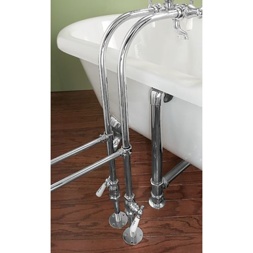 Foremost Chrome Over Tub Supply Lines with Decorative Shut-offs