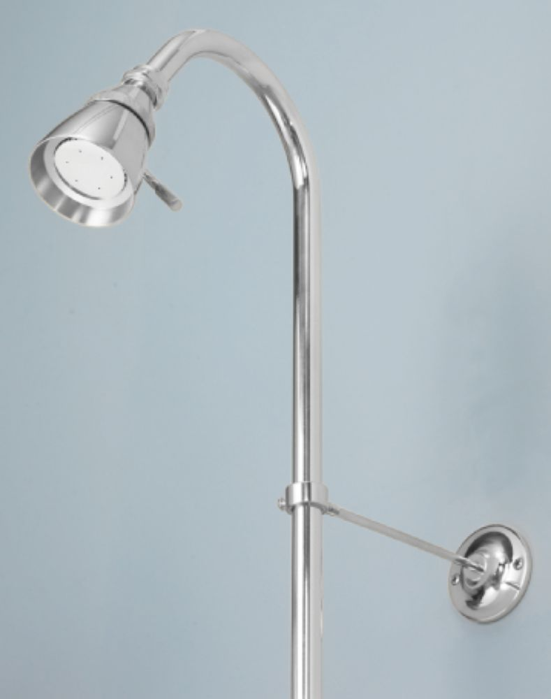 Foremost International Shower Riser and Showerhead in Chrome