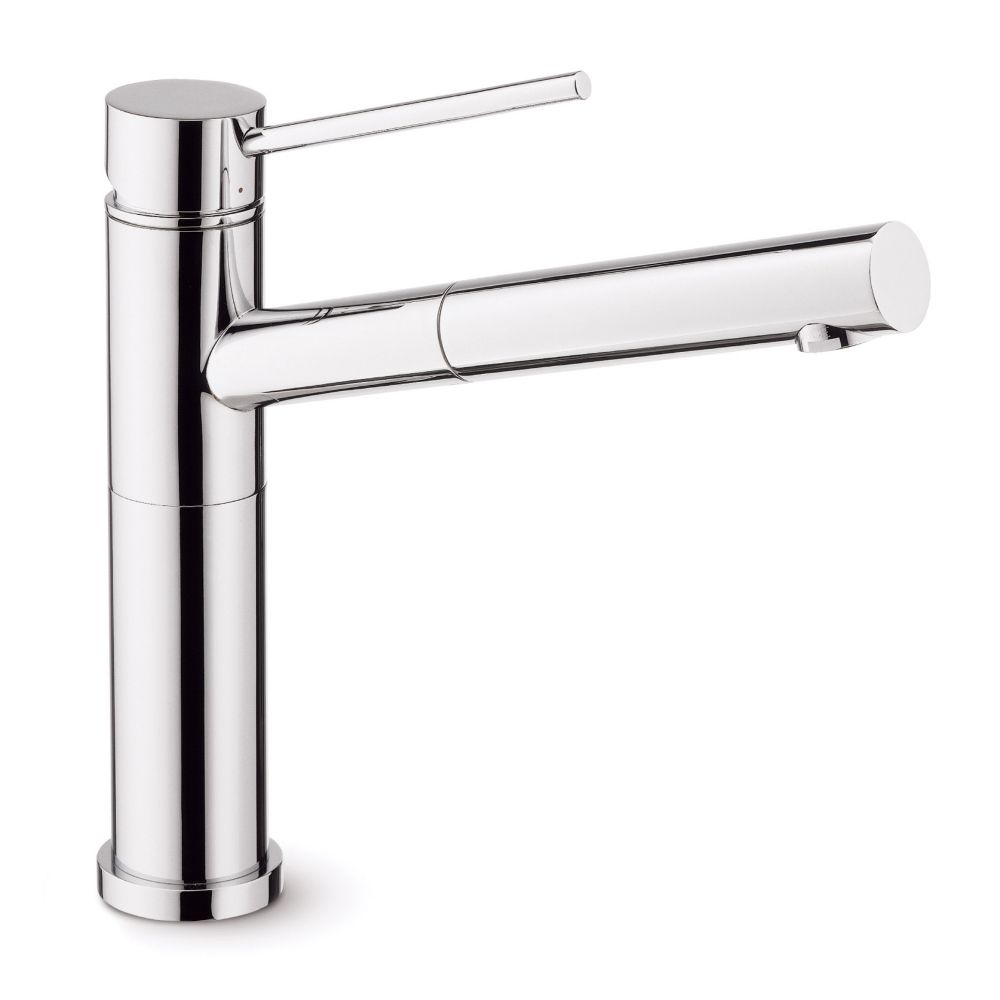 Single Lever, Pull-Out Kitchen Faucet, Stainless Steel
