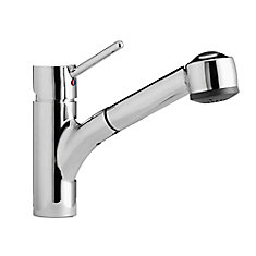 Single Lever, Pull-Out Kitchen Faucet, Chrome