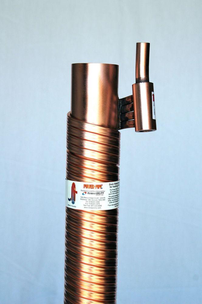 Récupération de chaleur Power-Pipe - 3 po de diam. et 36 po de long. - Tuyau de drain inclus