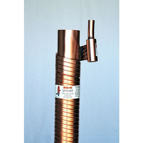 Power-Pipe 3-inch Diam, 36-inch Long (Price includes drain connectors)