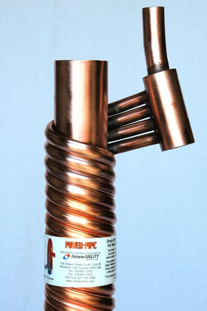Récupérateur de chaleur des eaux de drainage Power-Pipe R2-66