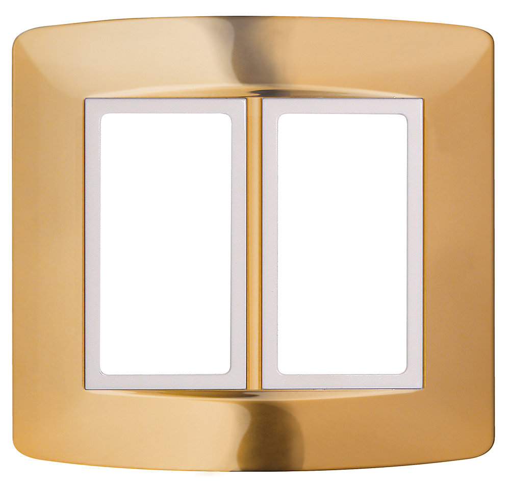 Retro-Fit Electrical Switch Plate Kit- Gold 2-Gang