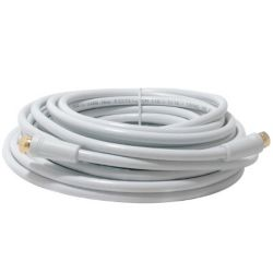 OMEGA Rg5 Cable W/connectors  10M  White