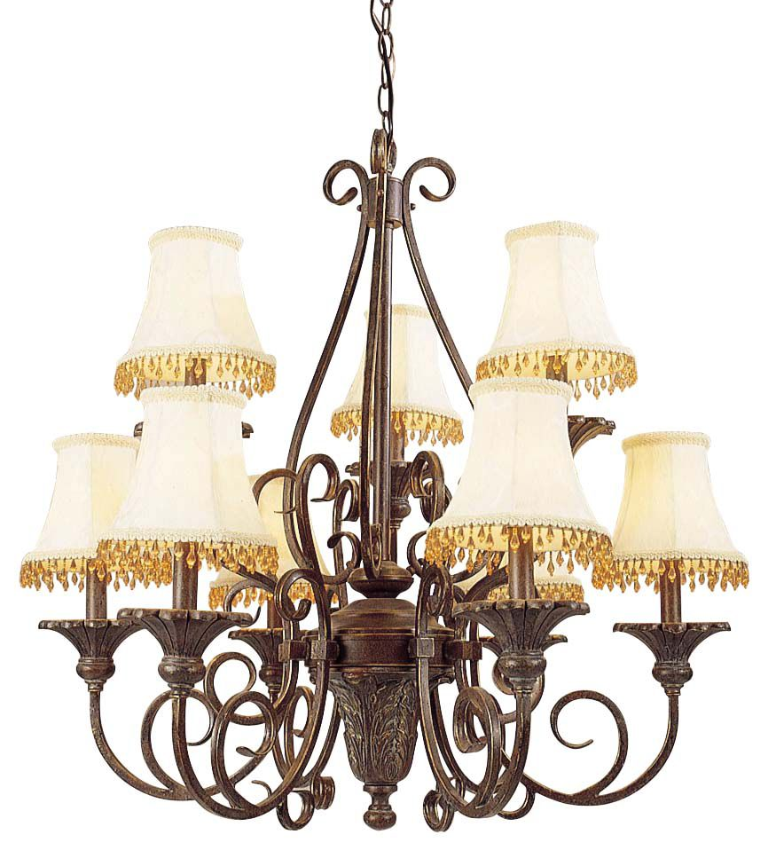 Trinity Collection Antique Bronze 15 Light Chandelier 7