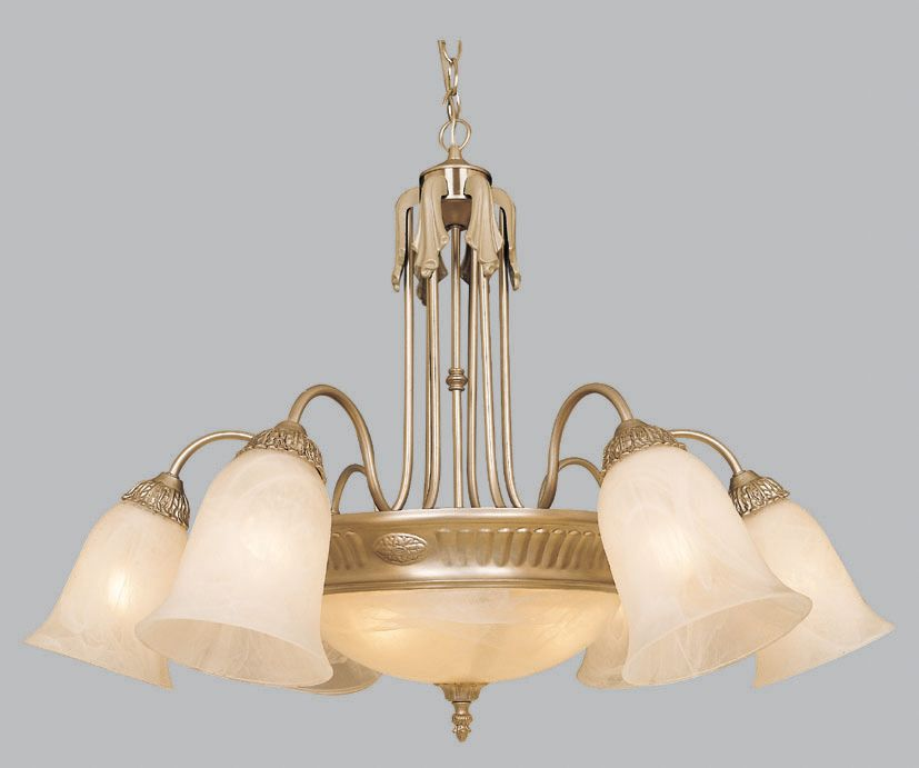 Amlite Lighting Chandelier, Pewter Finish - 32-1/4 Inches