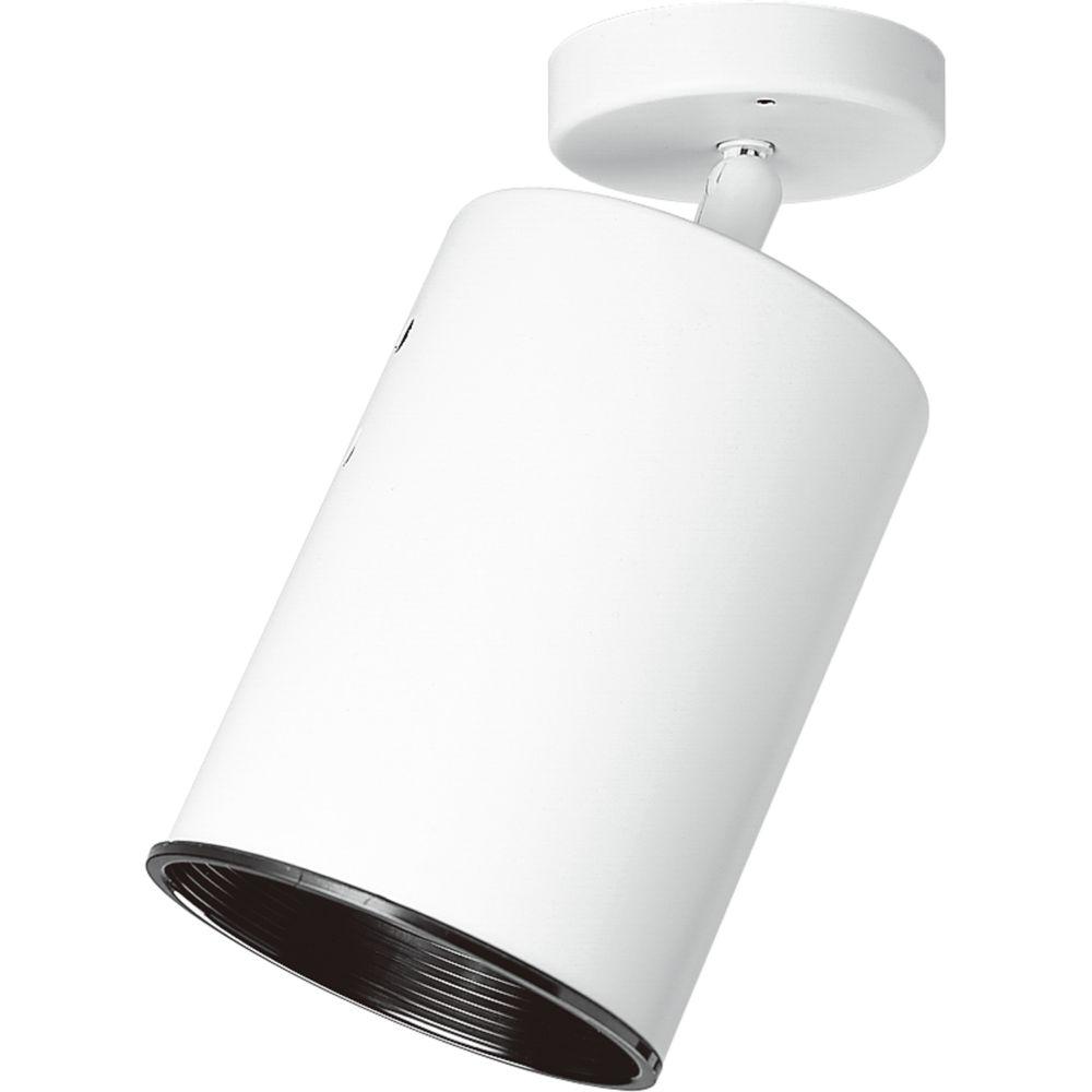 White 1-light Spotlight Fixture