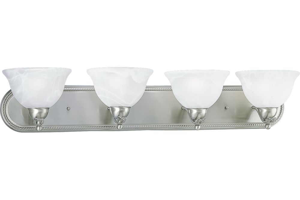 Avalon Collection Brushed Nickel 4-light Wall Bracket