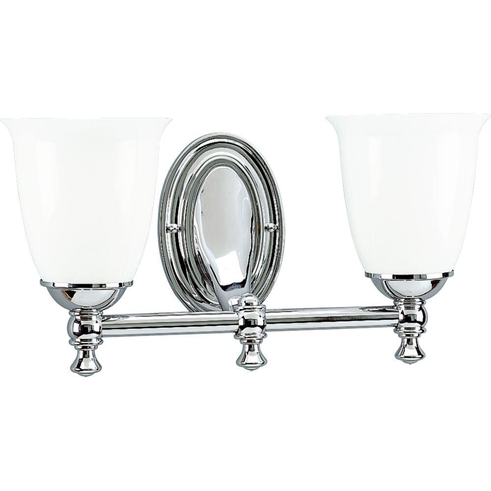 Victorian Collection Chrome 2-light Wall Bracket