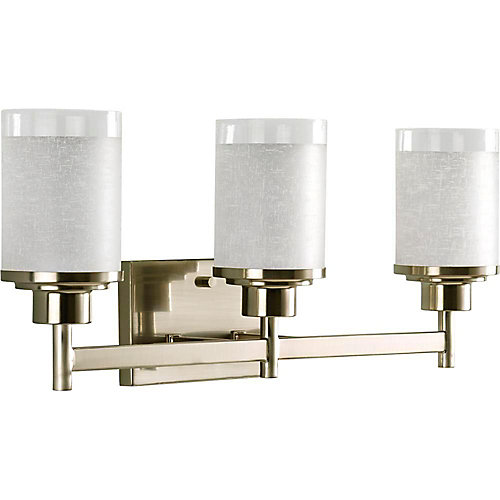 Alexa Collection Brushed Nickel 3-light Wall Bracket