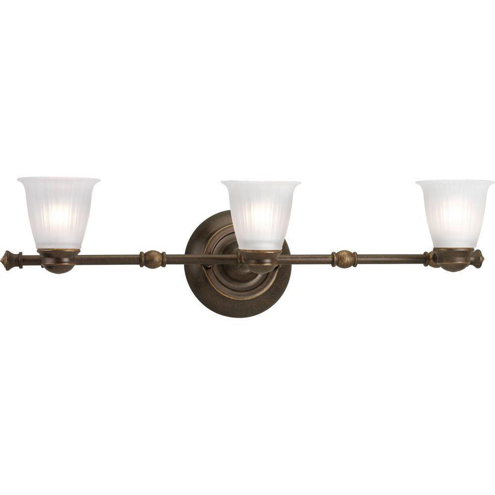 Projecteur à 3 Lumières, Collection Renovations - fini Bronze Forgé