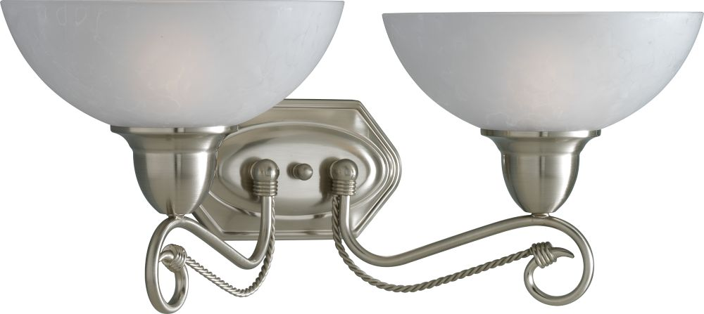 Pavilion Collection Brushed Nickel 2-light Wall Bracket