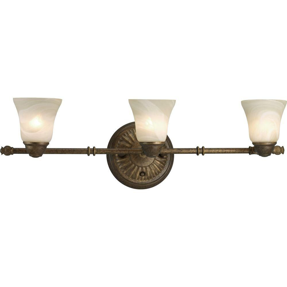 Savannah Collection Burnished Chestnut 3-light Spotlight Fixture