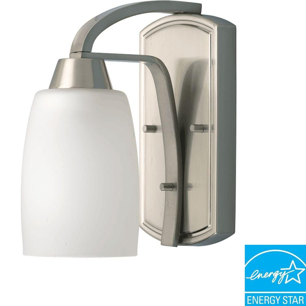 wholesale bathroom lighting wisten collection brushed nickel 1 light fluorescent 15171