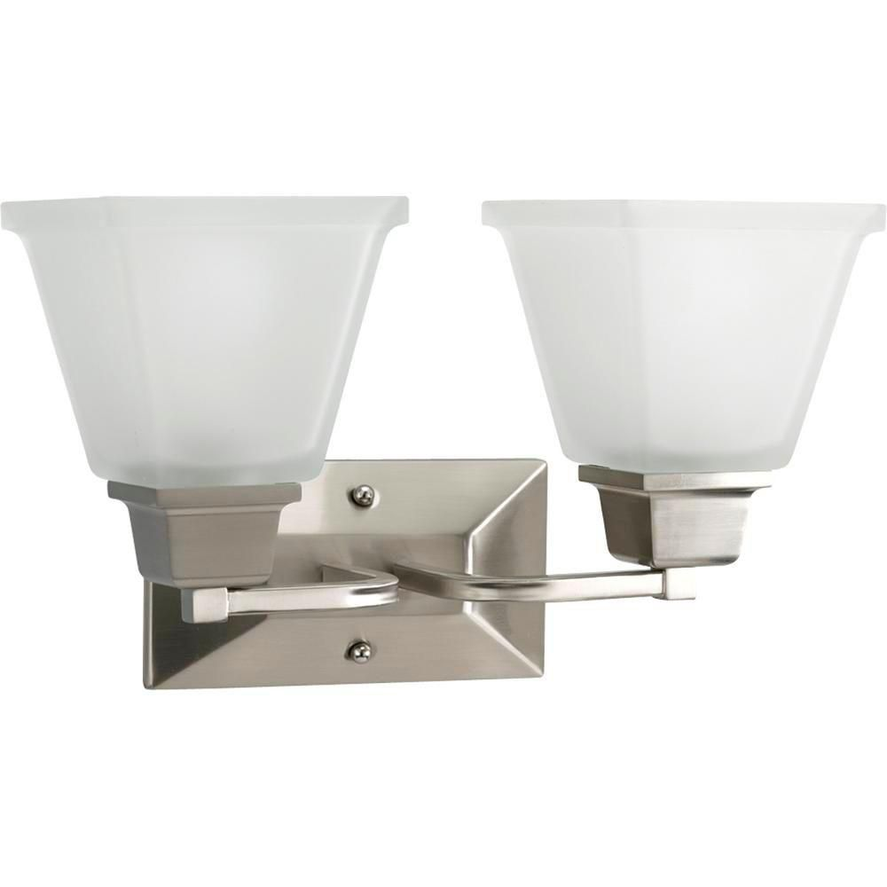 North Park Collection Brushed Nickel 2-light Wall Bracket
