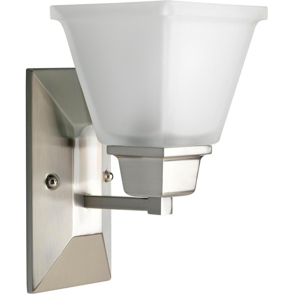 North Park Collection Brushed Nickel 1-light Wall Bracket