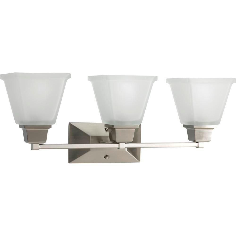 North Park Collection Brushed Nickel 3-light Wall Bracket