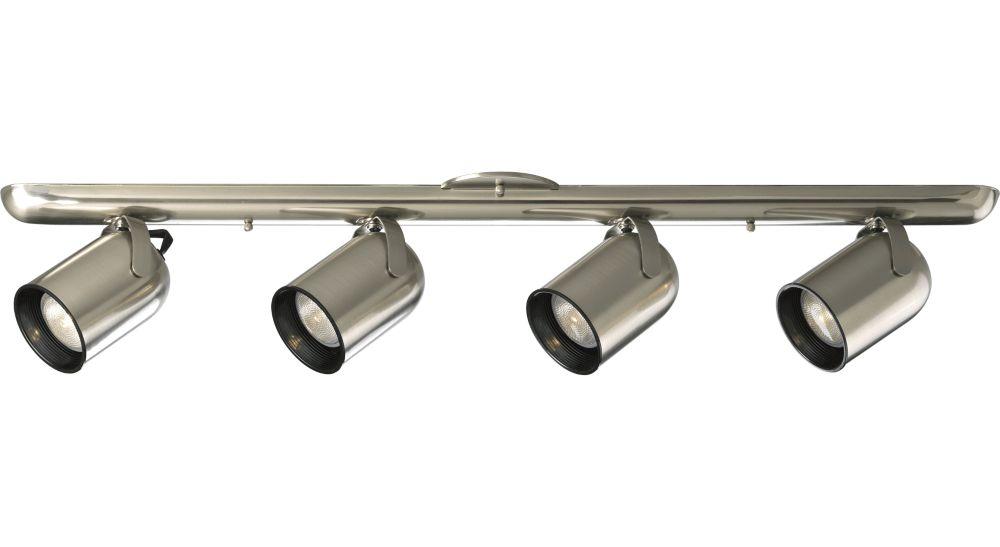 Brushed Nickel 4-light Spotlight Fixture