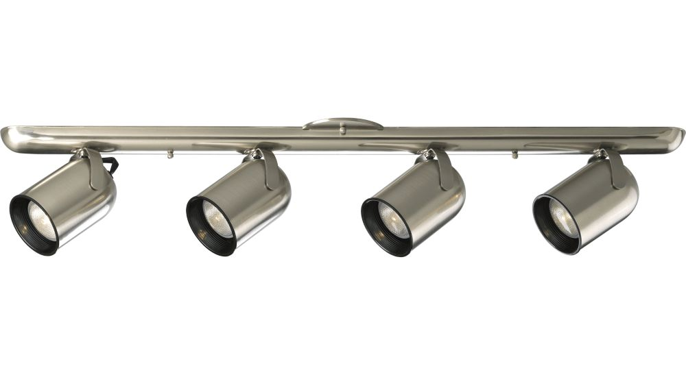Brushed Nickel 4-light Spotlight Fixture
