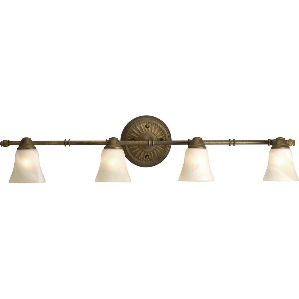 Savannah Collection Burnished Chestnut 4-light Spotlight Fixture