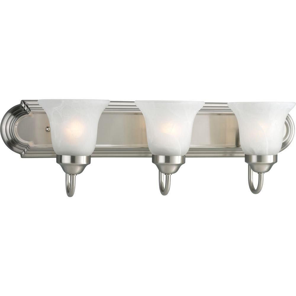 Brushed Nickel 3-light Wall Bracket