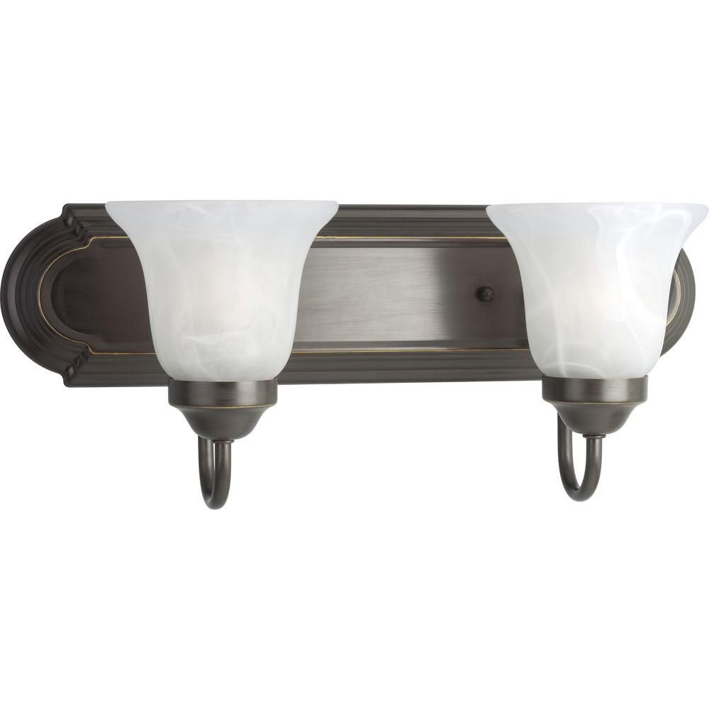 Antique Bronze 2-light Wall Bracket