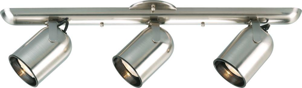 Brushed Nickel 3-light Spotlight Fixture