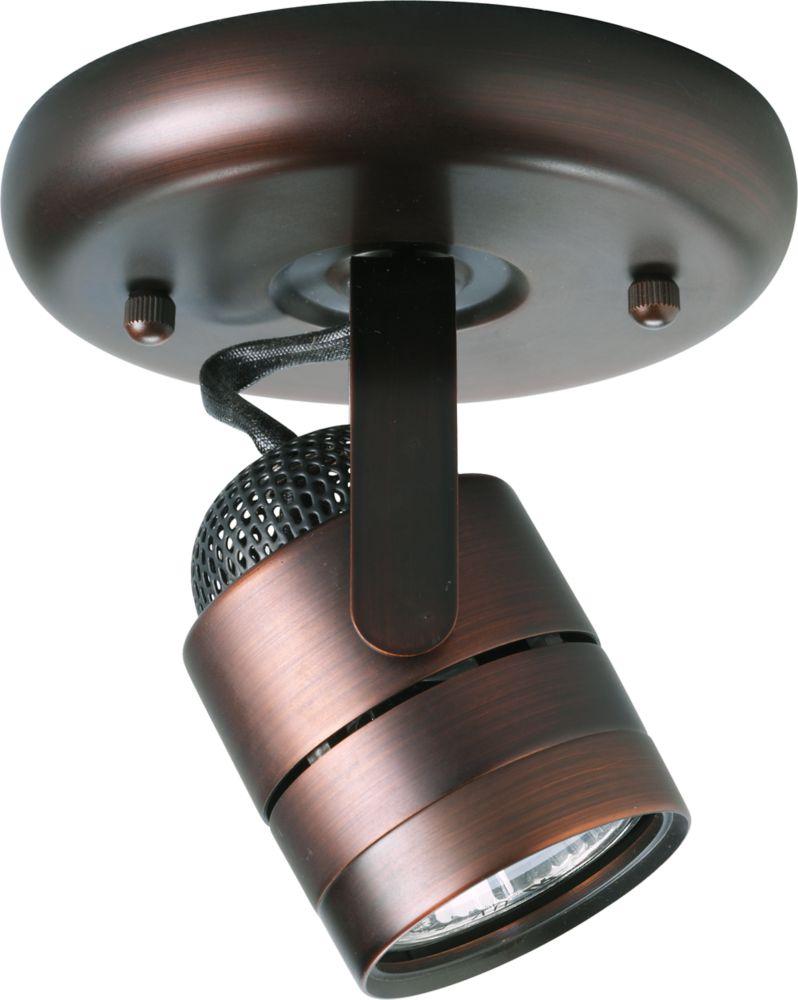 Projecteur à 1 Lumière - fini Bronze Urbain
