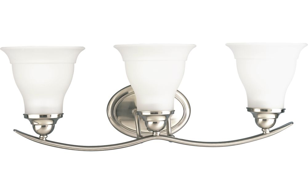 Trinity Collection Brushed Nickel 3-light Wall Bracket