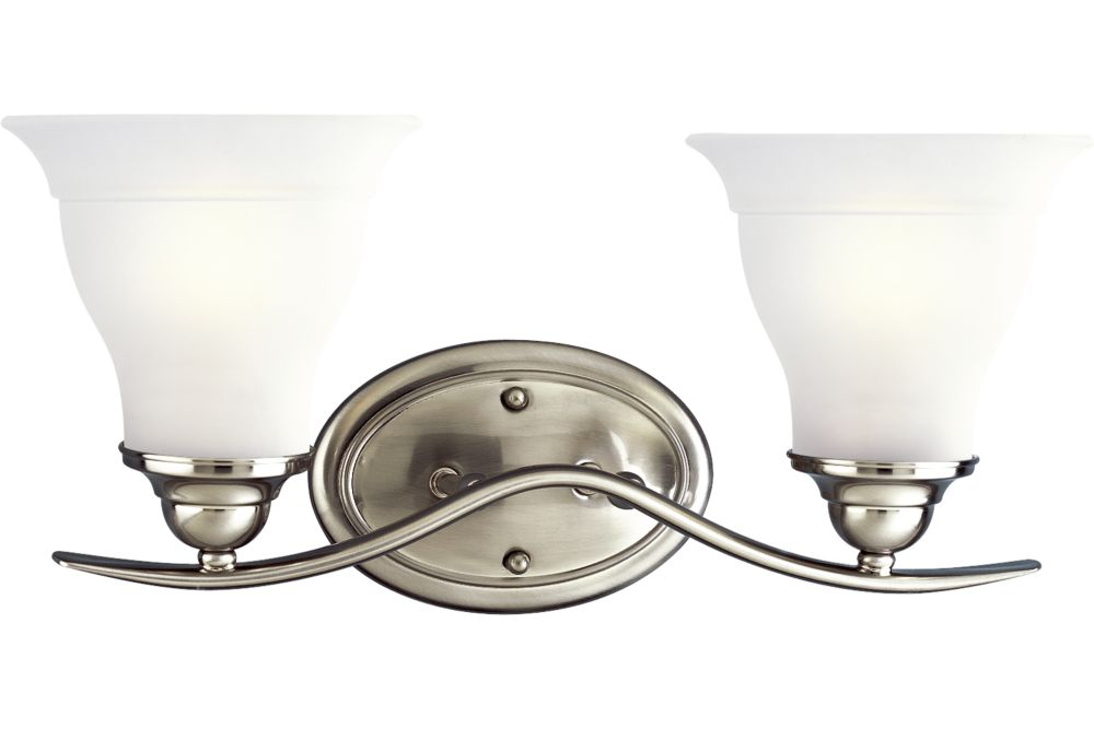 Trinity Collection Brushed Nickel 2-light Wall Bracket