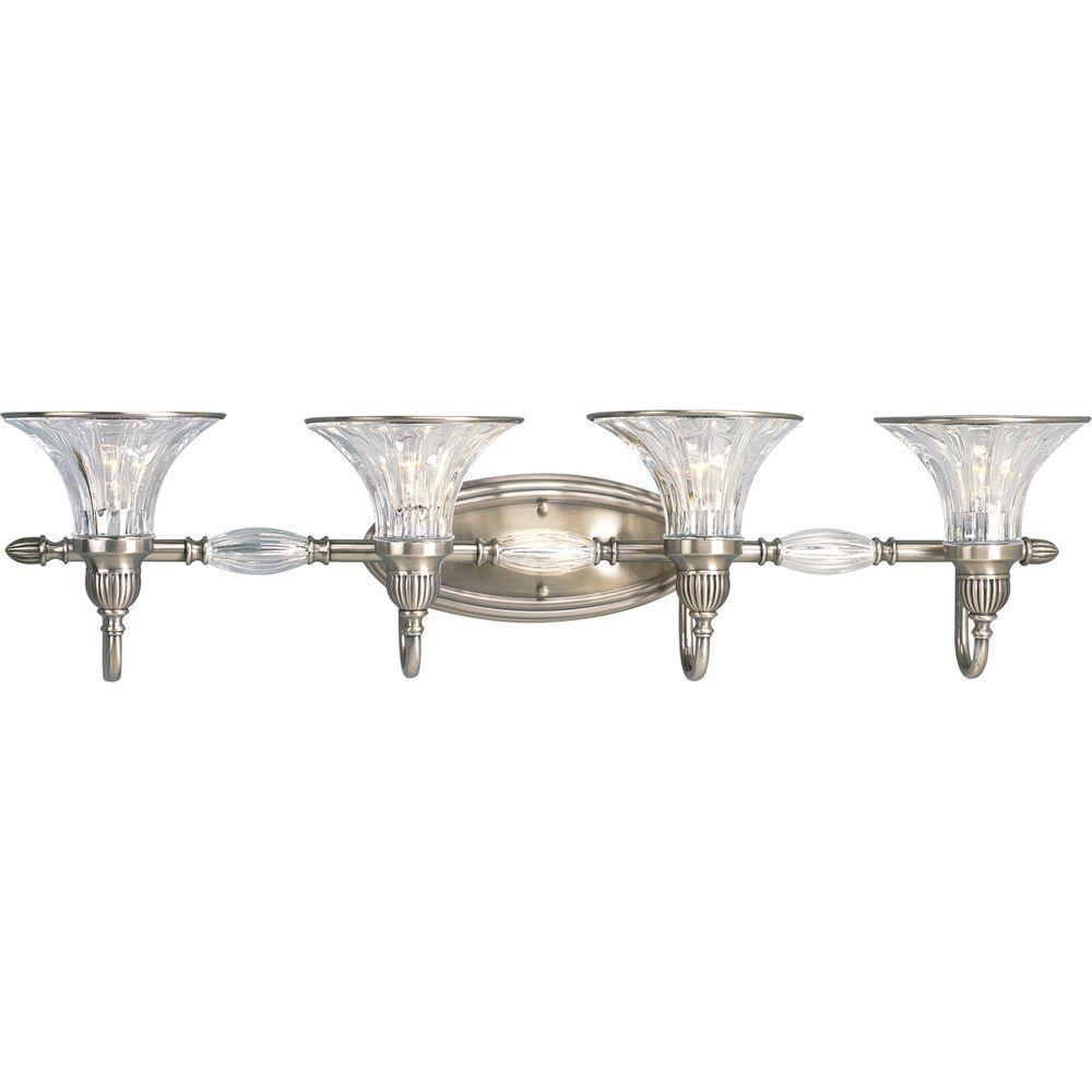Roxbury Collection Classic Silver 4-light Wall Bracket
