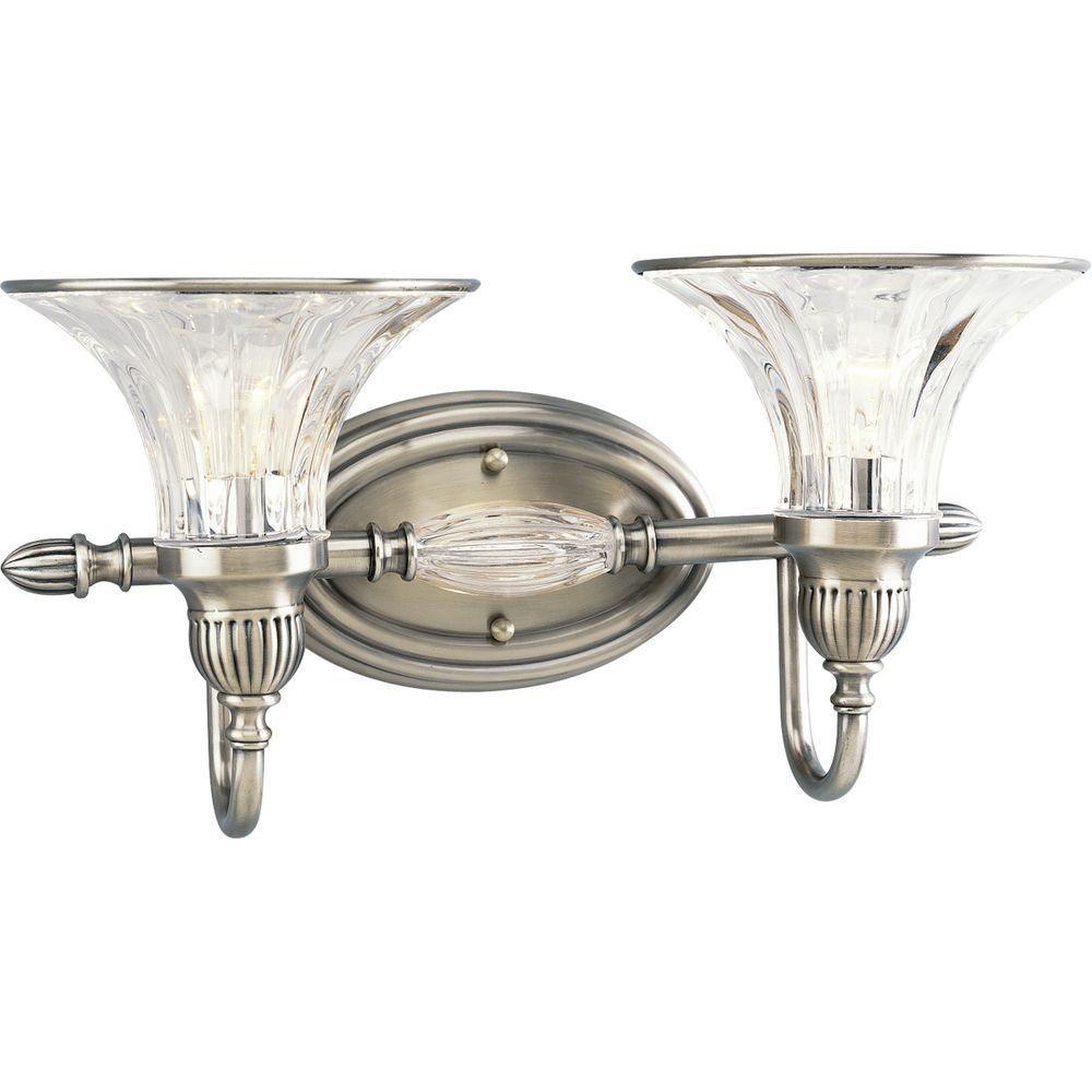 Roxbury Collection Classic Silver 2-light Wall Bracket