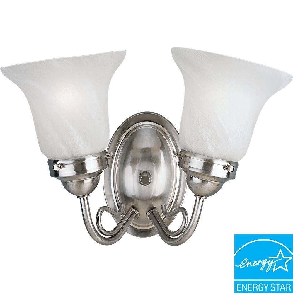 Bedford Collection Brushed Nickel 2-light Wall Bracket