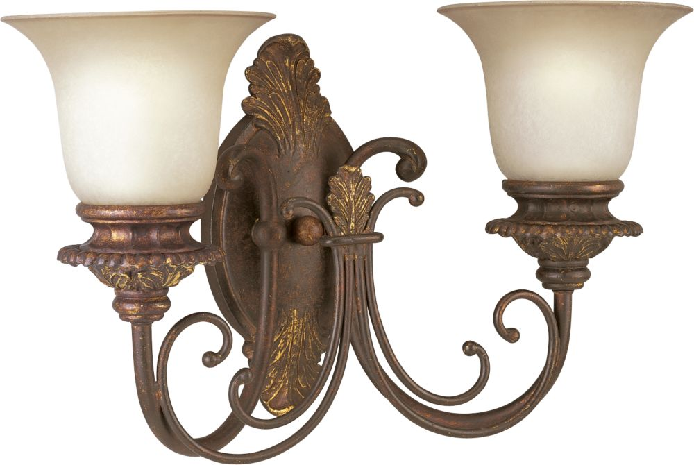 Messina Collection Aged Mahogany 2-light Wall Sconce