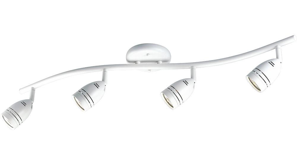 White 4-light Spotlight Fixture