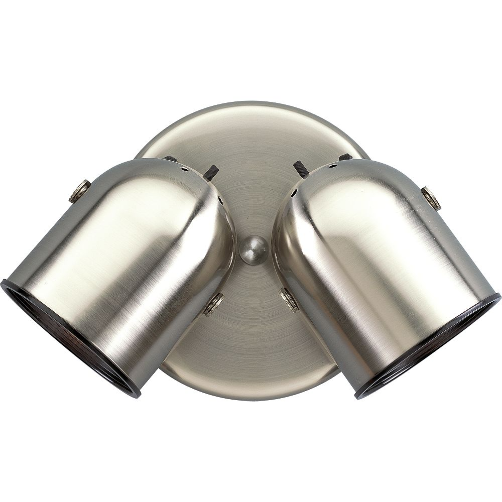 Progress Lighting Brushed Nickel 2-light Spotlight Fixture