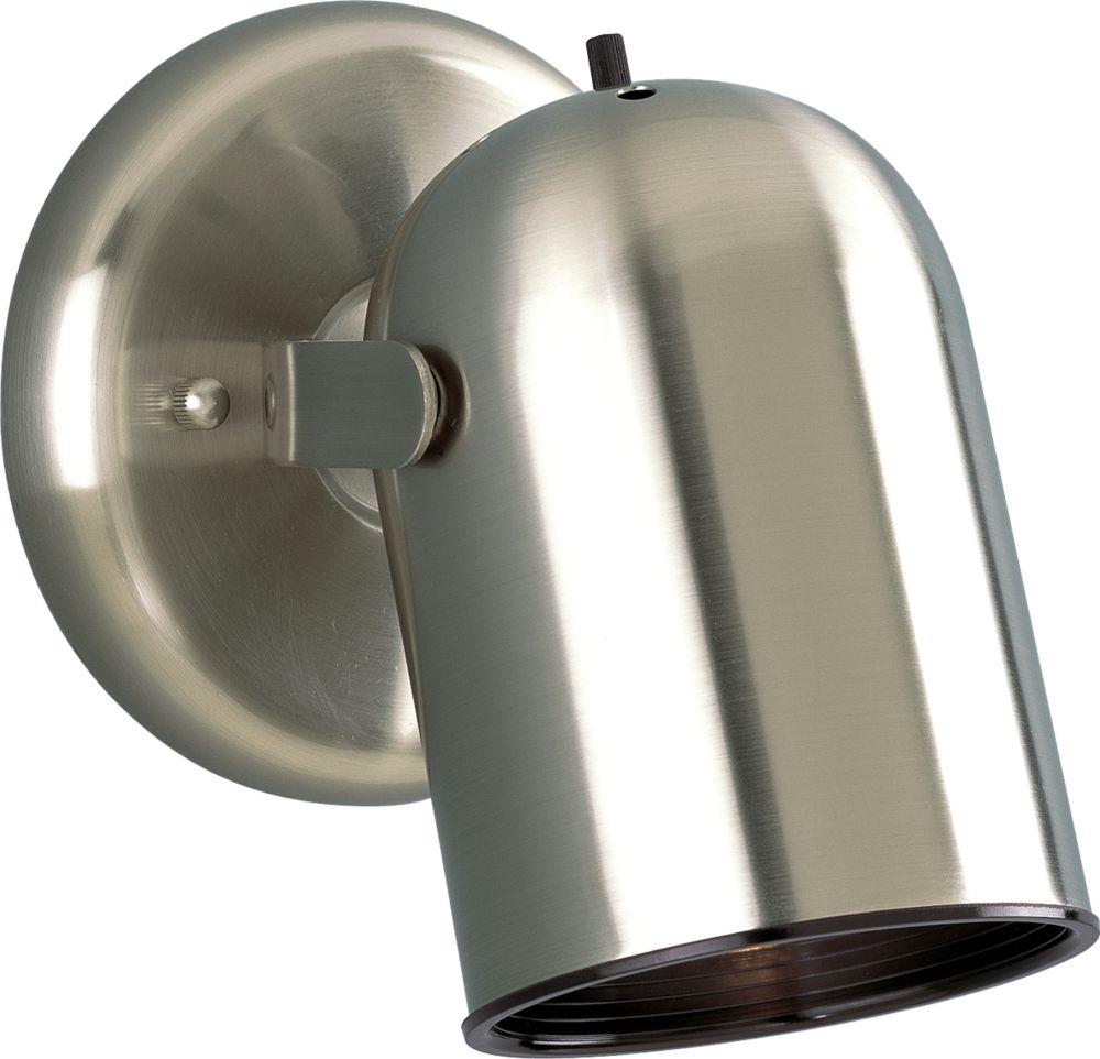 Projecteur à 1 Lumière - fini Nickel Brossé