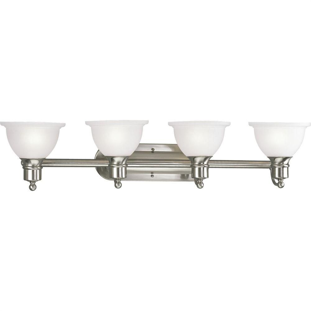 Madison Collection Brushed Nickel 4-light Wall Bracket