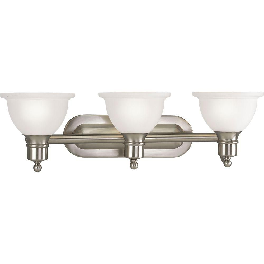 Madison Collection Brushed Nickel 3-light Wall Bracket