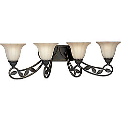 Progress Lighting Le Jardin Collection Espresso 4-light Wall Sconce