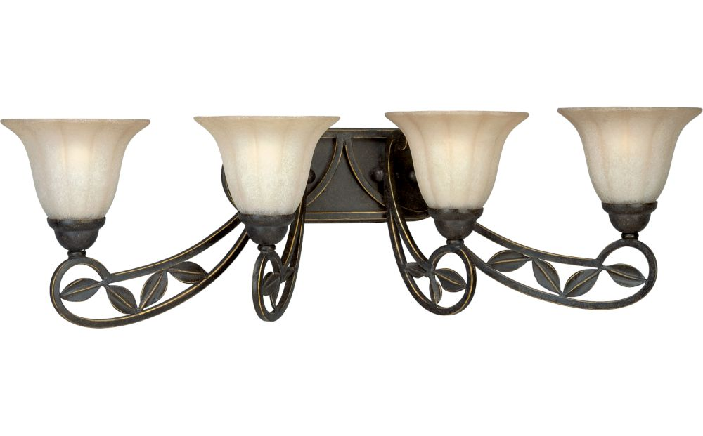 Le Jardin Collection Espresso 4-light Wall Sconce