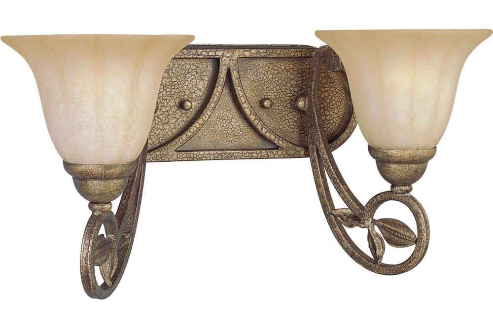 Le Jardin Collection Biscay Crackle 2-light Wall Sconce