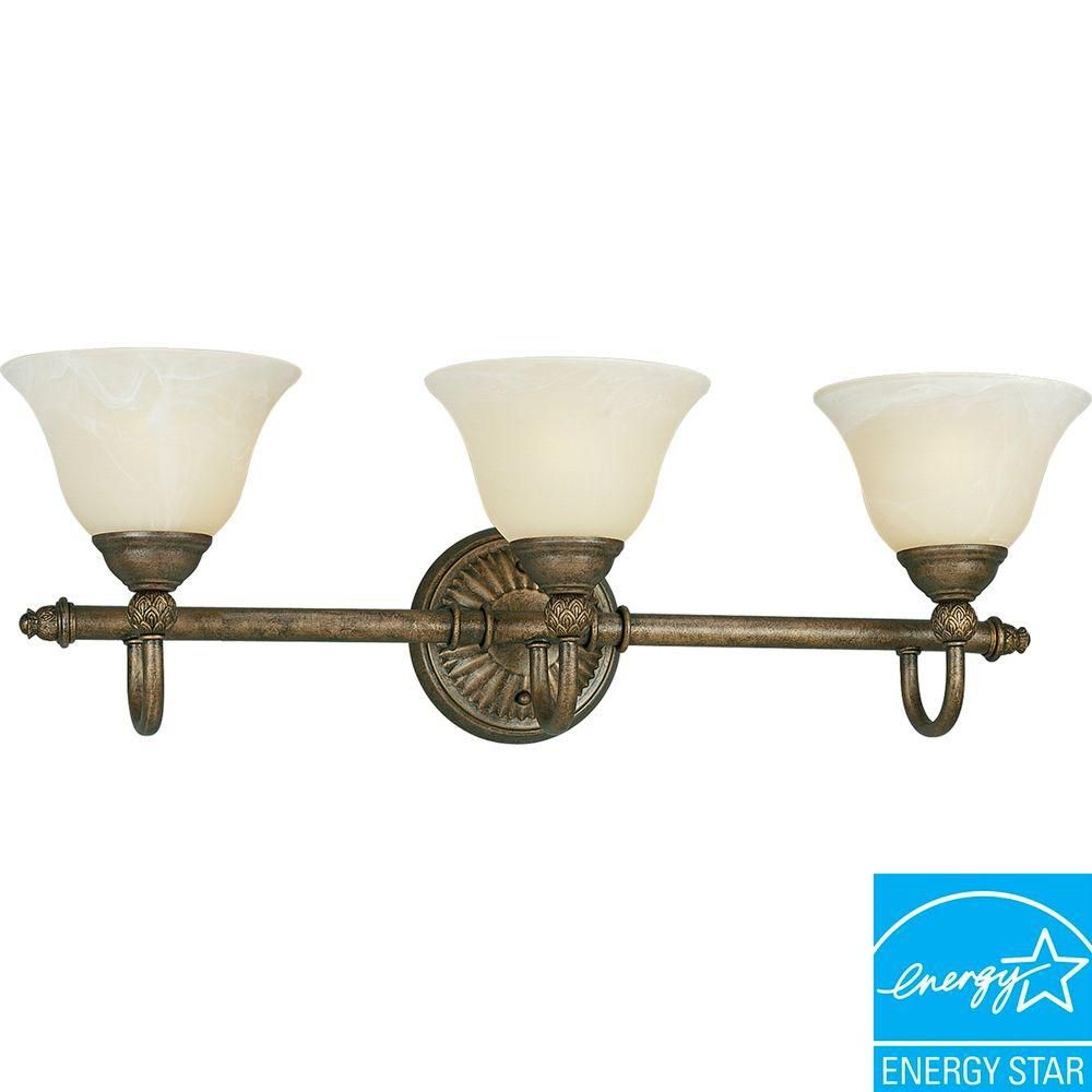 Savannah Collection Burnished Chestnut 3-light Wall Bracket