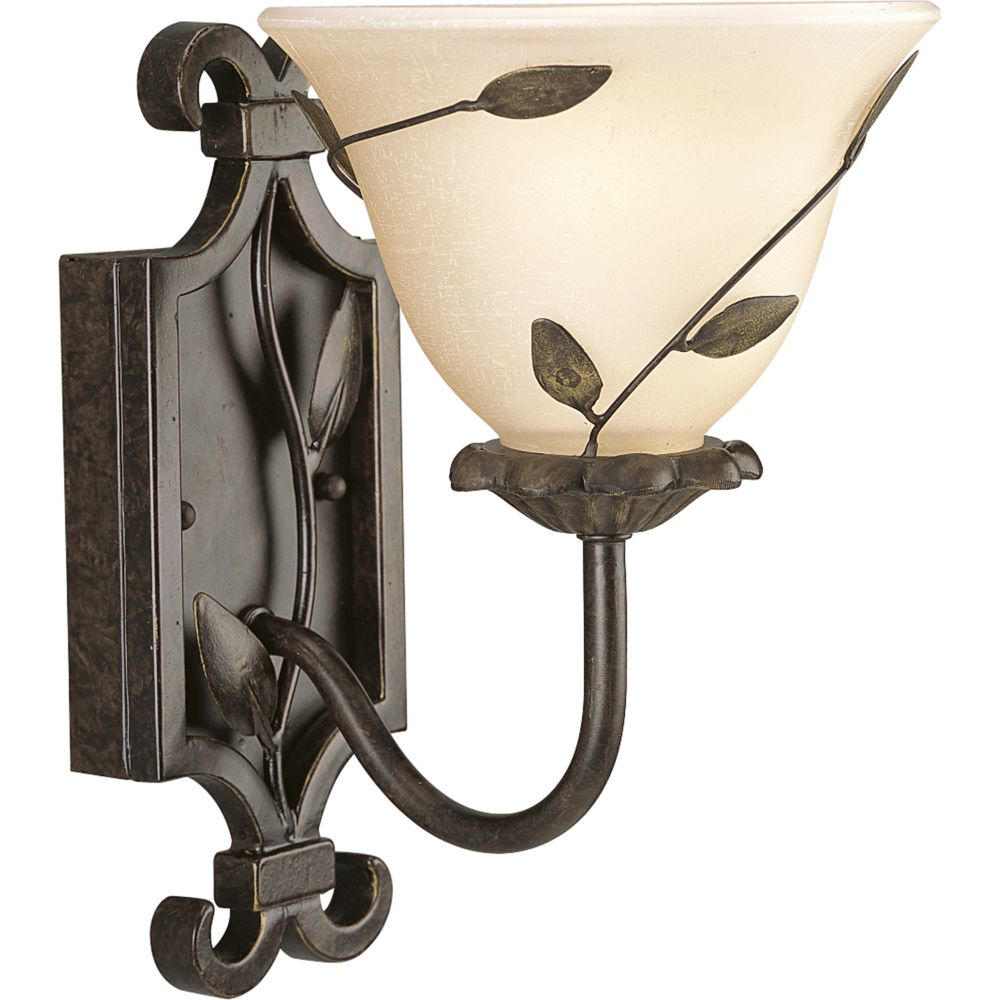 Eden Collection Forged Bronze 1-light Wall Bracket