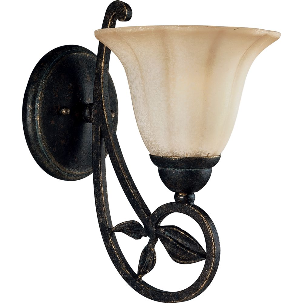 Le Jardin Collection Espresso 1-light Wall Bracket